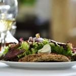 Spring duck breast salad